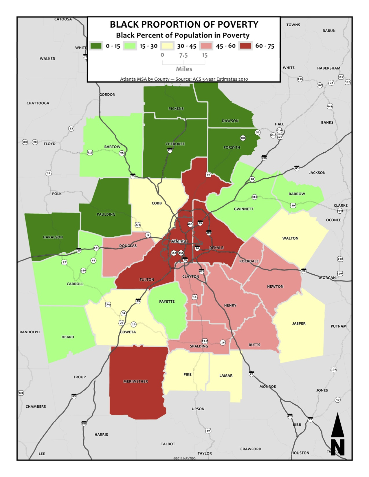 Black Proportion Of Population In Poverty  Metro Counties