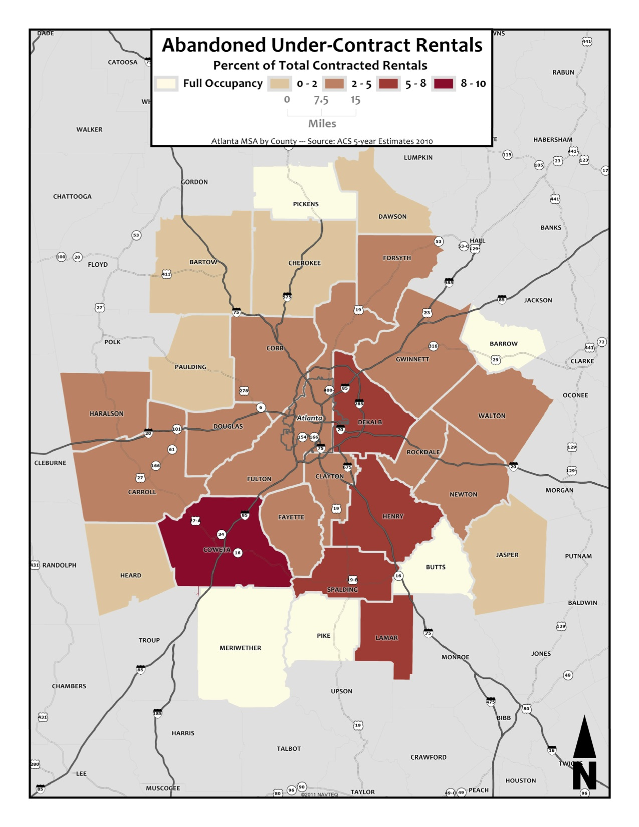 Abandoned Under-Contract Rentals – metro counties