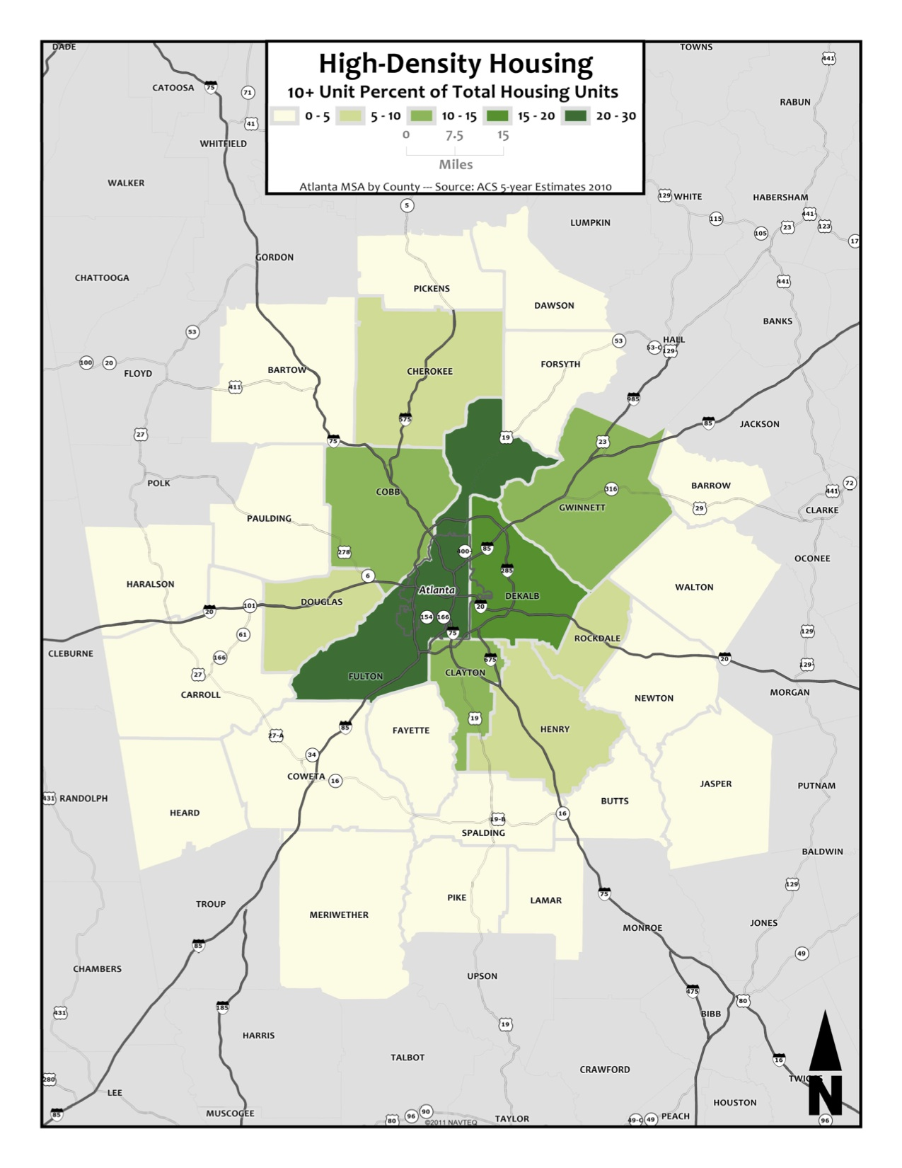 High Density Housing Prevalence – metro counties