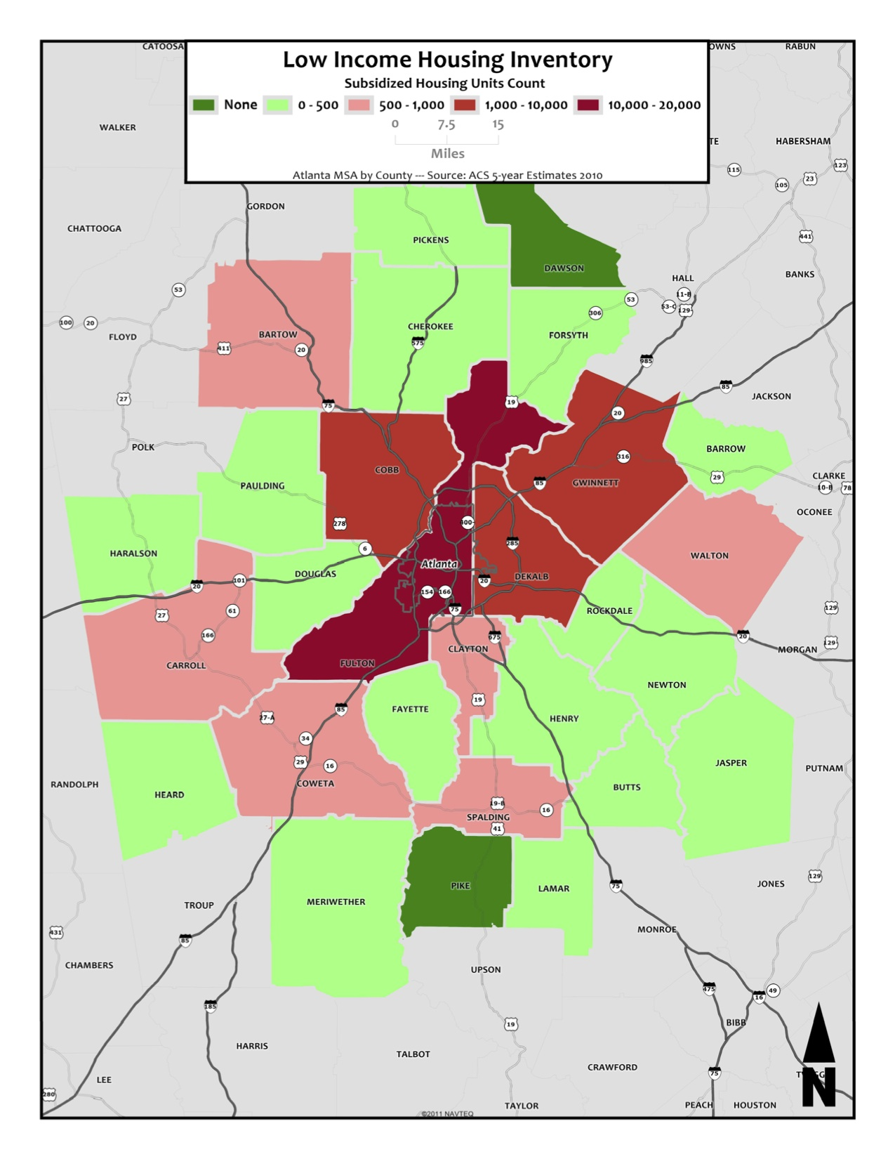 Low Income Housing Inventory – metro counties
