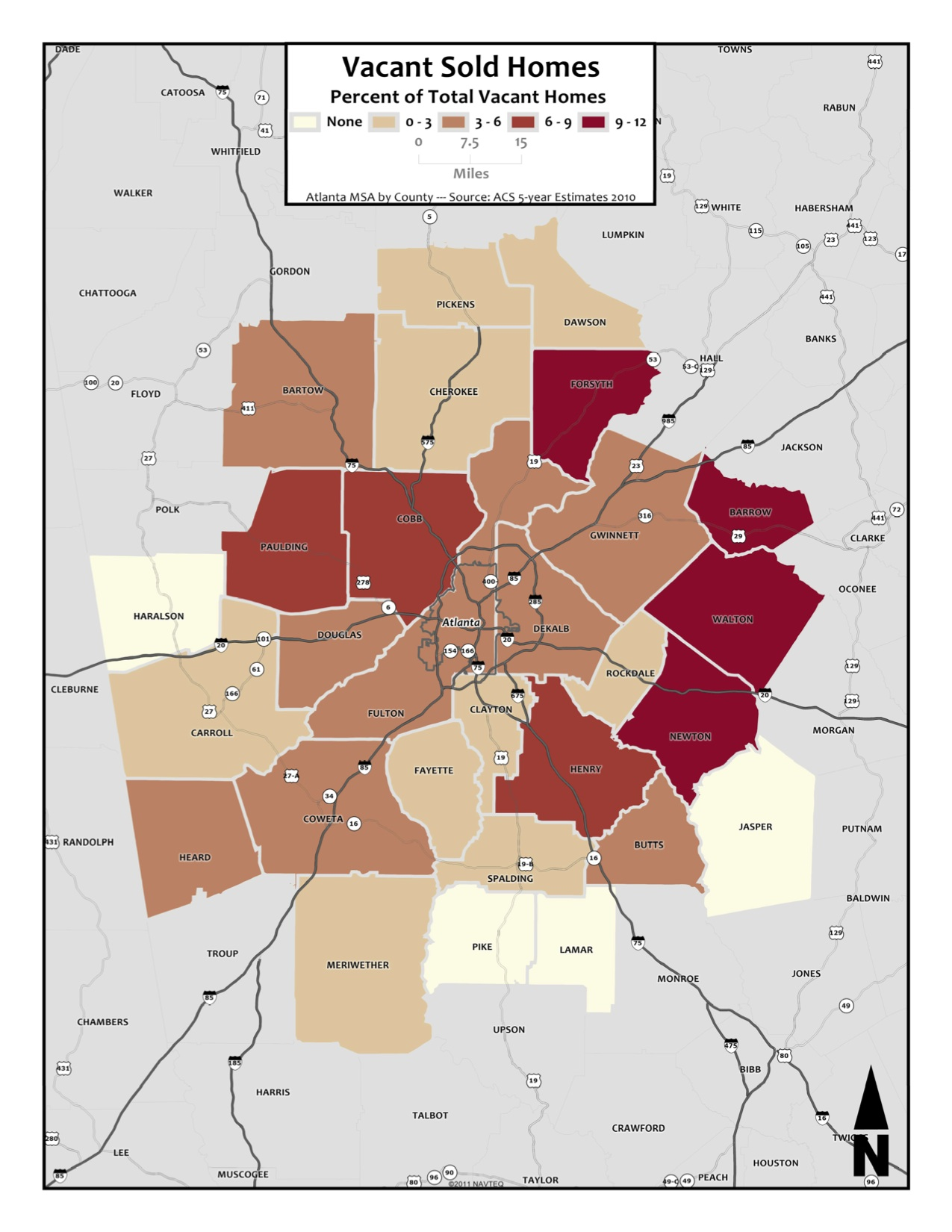 Vacant Sold Homes – metro counties