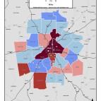 Zero-Vehicle Households – metro counties