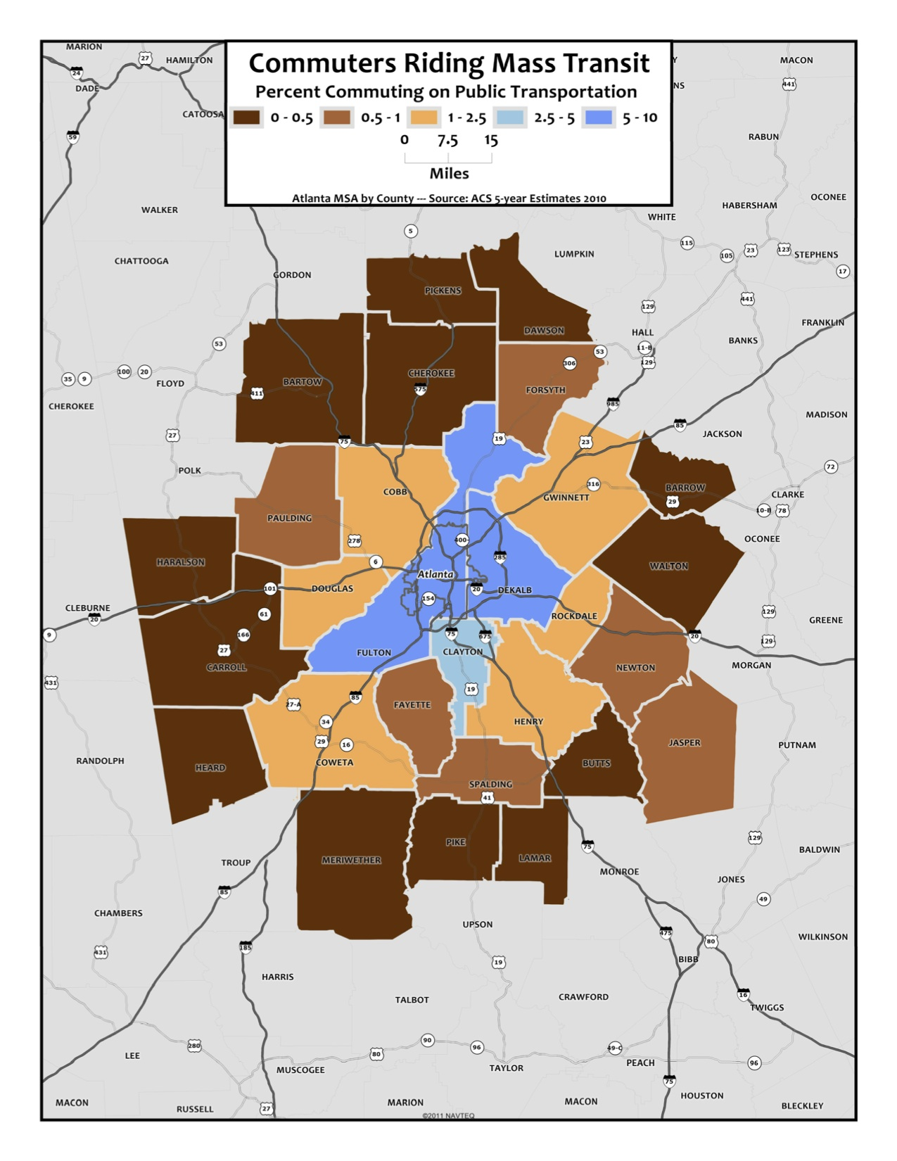 Public Transit – metro counties