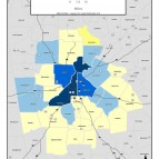 Average Employee Payroll, 2011 – metro counties