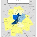 Food and Hospitality Employment Count, 2011 – metro counties