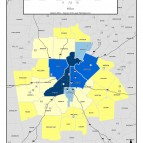Paid Employees Numeric Count, 2011 – metro counties
