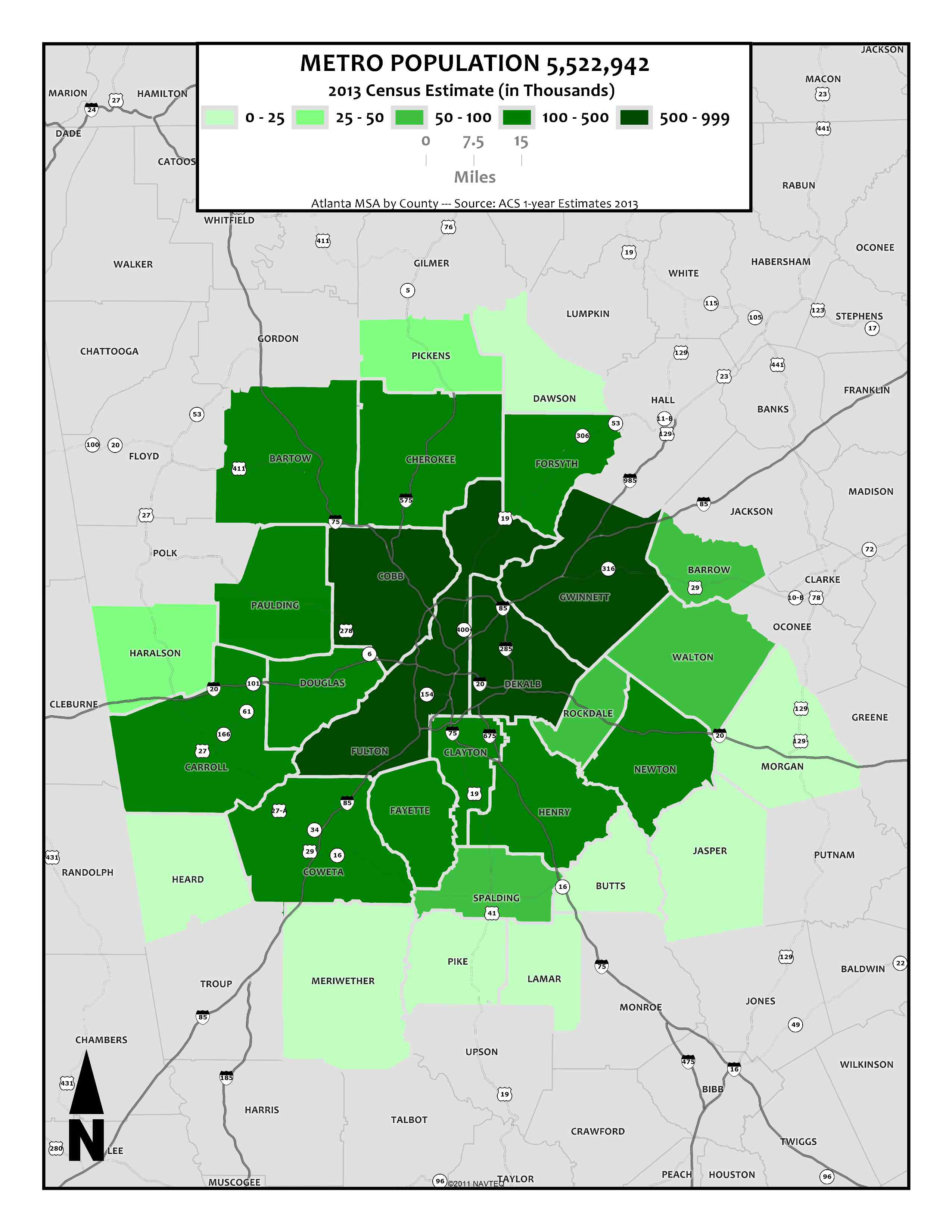 Metro Population 5,522,942 (2013) – metro counties